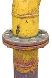 выдержанная труба фланца соединения изолированная газом старая Стоковые Изображения