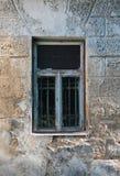 Выдержанное grungy окно стоковые фотографии rf