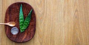 Выдержка свежего алоэ vera для здорового handmade moisturizing skincare стоковое фото rf
