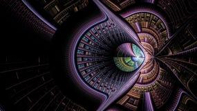 Выдуманные миры фракталей Стоковые Изображения