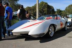 Выдуманный гоночный автомобиль Маха 5 от оживленной серии стоковая фотография
