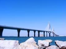 Вызванный мост конституции, Ла Pepa, в заливе diz ¡ CÃ, Андалусия Испания Стоковые Изображения RF