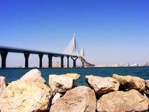 Вызванный мост конституции, Ла Pepa, в заливе diz ¡ CÃ, Андалусия Испания Стоковое Изображение RF