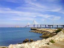 Вызванный мост конституции, Ла Pepa, в заливе diz ¡ CÃ, Андалусия Испания Стоковые Изображения