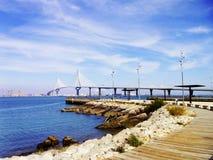 Вызванный мост конституции, Ла Pepa, в заливе diz ¡ CÃ, Андалусия Испания Стоковая Фотография RF