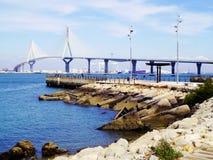 Вызванный мост конституции, Ла Pepa, в заливе diz ¡ CÃ, Андалусия Испания Стоковое фото RF