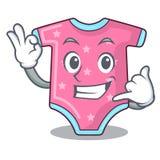 Вызовите меня одеждами шерстей младенца изолированный на талисмане бесплатная иллюстрация