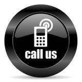 Вызовите нас иконой Стоковое Фото
