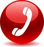 Вызовите нас красным цветом значка сети кнопки иллюстрация штока