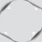 Вызовите скручиваемость с тенью на чистом листе бумаги иллюстрация вектора
