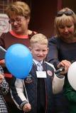 вызовите сперва 1-ое сентября, день знания в русской школе День знания школа дня первая Стоковая Фотография RF