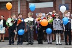 вызовите сперва 1-ое сентября, день знания в русской школе День знания школа дня первая Стоковые Изображения