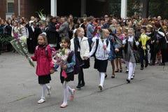 вызовите сперва 1-ое сентября, день знания в русской школе День знания школа дня первая Стоковые Фото