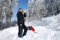 вызывать альпиниста Стоковое Изображение