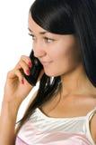 вызывать женщину сотового телефона Стоковое Изображение RF