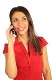 вызывать женщину сотового телефона стоковые фото