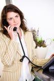 вызывать работник службы рисепшн телефона Стоковое Изображение RF