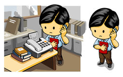 вызывать факс Стоковое фото RF