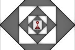 Вызывающий клаустрофобию (метафора шахмат) Стоковое Изображение