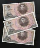 100 выиграли банкноту 1978, Северная Корея Стоковое Изображение RF