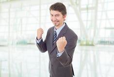 Выигрывать бизнесмена Стоковая Фотография RF