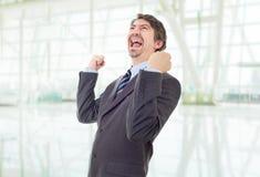 Выигрывать бизнесмена Стоковое Изображение