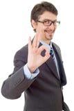 Выигрывать бизнесмена Стоковые Фотографии RF