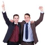 выигрывать бизнесменов стоковая фотография rf