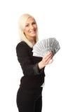 Выигрывать большие наличные деньги Стоковое Изображение