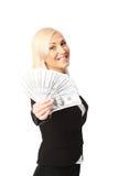 Выигрывать большие наличные деньги Стоковое Изображение RF