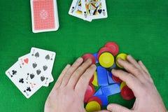 Выигрывать в карточках Стоковое фото RF