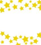 выигрывать звезды золота граници Стоковые Фото