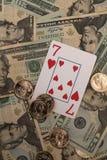 выигрывать карточки Стоковые Фотографии RF