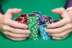 выигрывать покера Стоковые Фотографии RF