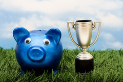 выигрывать сбережений ваш Стоковое Изображение