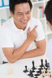 Выигрывая игра шахмат Стоковая Фотография