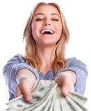 Выигрывая концепция денег Стоковые Фото