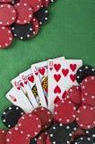 Выигрывая рука покера Стоковое Изображение RF