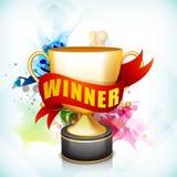 Выигрывая трофей для сверчка резвится концепция Стоковое Изображение RF