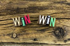Выигрыш выигрыша теряет letterpress стратегии Стоковое фото RF