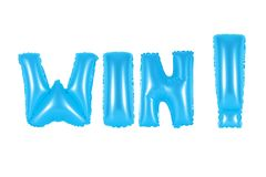 Выигрыш, голубой цвет Стоковое Фото