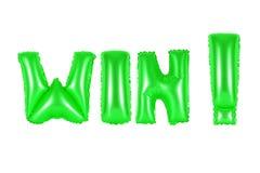 Выигрыш, зеленый цвет Стоковые Изображения