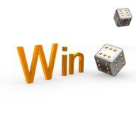 выигрыш кубика Стоковое Изображение