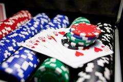 выигрыш покера Стоковые Изображения