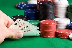 выигрыш покера Стоковое фото RF