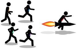 Выигрыш с ракетой иллюстрация штока