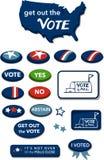 Выйдите кнопки Соединенные Штаты Америки голосования иллюстрация вектора