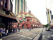 Выйдите торговый центр вышед на рынок на рынок города в сердце ` s Чайна-тауна Сиднея, изображения в кинематографическом цвете то Стоковые Фотографии RF