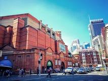 Выйдите торговый центр вышед на рынок на рынок города в сердце ` s Чайна-тауна Сиднея, изображения в кинематографическом цвете то Стоковая Фотография