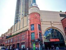 Выйдите торговый центр вышед на рынок на рынок города в сердце ` s Чайна-тауна Сиднея, изображения в кинематографическом цвете то Стоковые Фото